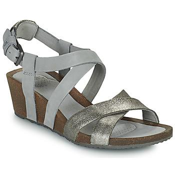 Čevlji  Ženske Sandali & Odprti čevlji Teva MAHONIA WEDGE CROSS STRAP ML Siva