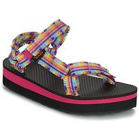 Čevlji  Deklice Sandali & Odprti čevlji Teva C MIDFORM FRAY Rožnata / Večbarvna