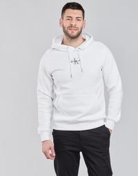 Oblačila Moški Puloverji Calvin Klein Jeans NEW ICONIC ESSENTIAL HOODIE Bela