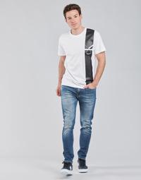 Oblačila Moški Jeans straight Calvin Klein Jeans SLIM TAPER Modra