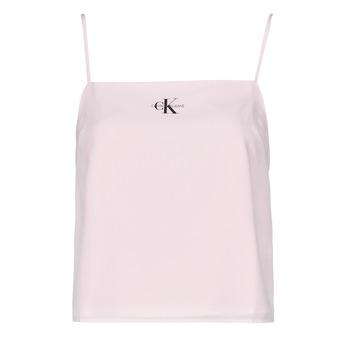 Oblačila Ženske Topi & Bluze Calvin Klein Jeans MONOGRAM CAMI TOP Rožnata