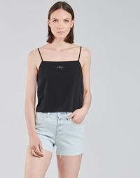 Oblačila Ženske Topi & Bluze Calvin Klein Jeans MONOGRAM CAMI TOP Črna