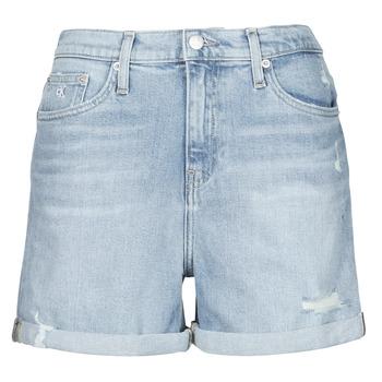 Oblačila Ženske Kratke hlače & Bermuda Calvin Klein Jeans MOM SHORT Modra / Svetla