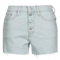 Oblačila Ženske Kratke hlače & Bermuda Calvin Klein Jeans HIGH RISE SHORT Modra / Svetla