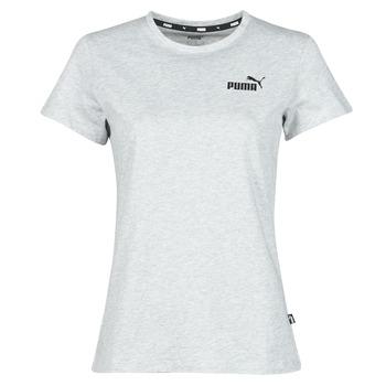 Oblačila Ženske Majice s kratkimi rokavi Puma ESS LOGO TEE Siva / Sepraný
