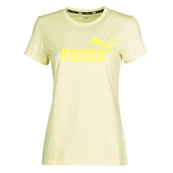 Oblačila Ženske Majice s kratkimi rokavi Puma ESS Logo Tee (s) Rumena