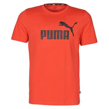 Oblačila Moški Majice s kratkimi rokavi Puma ESSENTIAL TEE Rdeča