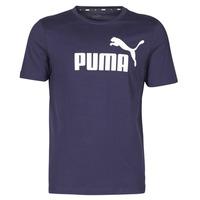 Oblačila Moški Majice s kratkimi rokavi Puma ESSENTIAL TEE Modra
