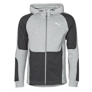Oblačila Moški Puloverji Puma EVOSTRIPE FZ HOODY Siva / Črna