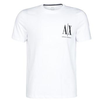 Oblačila Moški Majice s kratkimi rokavi Armani Exchange 8NZTPH-ZJH4Z Bela