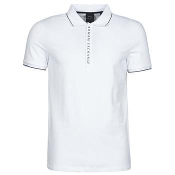 Oblačila Moški Polo majice kratki rokavi Armani Exchange 8NZF71-ZJH2Z Bela