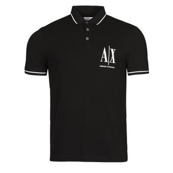 Oblačila Moški Polo majice kratki rokavi Armani Exchange 8NZFPA-Z8M5Z Črna