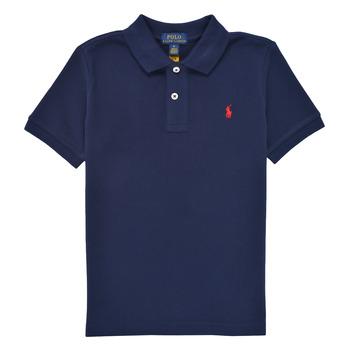 Oblačila Dečki Polo majice kratki rokavi Polo Ralph Lauren TUSSA Modra
