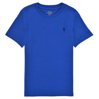 Oblačila Dečki Majice s kratkimi rokavi Polo Ralph Lauren ELIVA Modra / Safir
