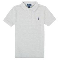 Oblačila Dečki Polo majice kratki rokavi Polo Ralph Lauren MENCHI Siva