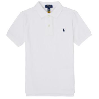 Oblačila Dečki Polo majice kratki rokavi Polo Ralph Lauren MENCHI Bela