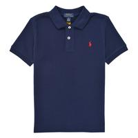 Oblačila Dečki Polo majice kratki rokavi Polo Ralph Lauren FRANCHI Siva