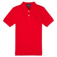 Oblačila Dečki Polo majice kratki rokavi Polo Ralph Lauren MENCHI Rdeča