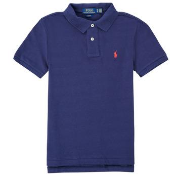 Oblačila Dečki Polo majice kratki rokavi Polo Ralph Lauren FRANCHI Modra