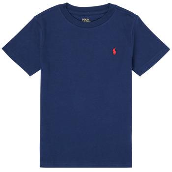 Oblačila Dečki Majice s kratkimi rokavi Polo Ralph Lauren TINNA Modra