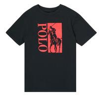 Oblačila Dečki Majice s kratkimi rokavi Polo Ralph Lauren CROPI Črna