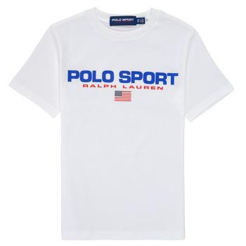 Oblačila Dečki Majice s kratkimi rokavi Polo Ralph Lauren DRONI Bela