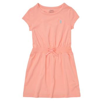 Oblačila Deklice Kratke obleke Polo Ralph Lauren FROLLI Rožnata