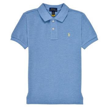 Oblačila Dečki Polo majice kratki rokavi Polo Ralph Lauren BLEUNI Modra