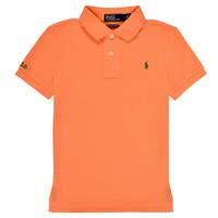 Oblačila Dečki Polo majice kratki rokavi Polo Ralph Lauren POLLIE Oranžna