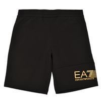 Oblačila Dečki Kratke hlače & Bermuda Emporio Armani EA7 3KBS53-BJ05Z-1200 Črna / Pozlačena