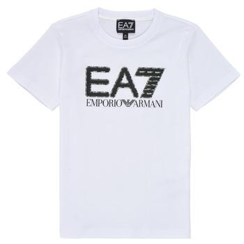 Oblačila Dečki Majice s kratkimi rokavi Emporio Armani EA7 3KBT53-BJ02Z-1100 Bela
