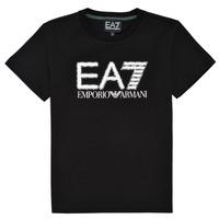 Oblačila Dečki Majice s kratkimi rokavi Emporio Armani EA7 3KBT53-BJ02Z-1200 Črna