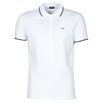 Oblačila Moški Polo majice kratki rokavi Diesel 00SW7C-0MXZA-100 Bela
