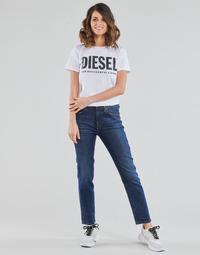 Oblačila Ženske Jeans straight Diesel D-JOY Modra