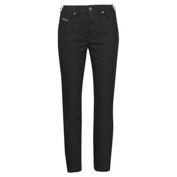 Oblačila Ženske Jeans straight Diesel D-JOY Črna