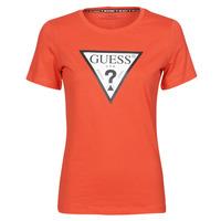Oblačila Ženske Majice s kratkimi rokavi Guess SS CN ORIGINAL TEE Rdeča