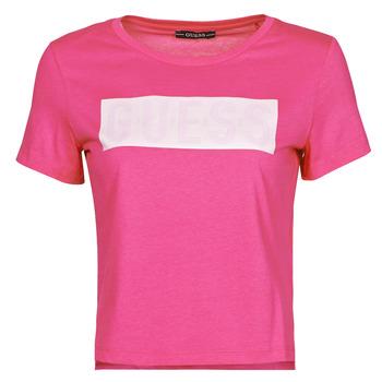 Oblačila Ženske Majice s kratkimi rokavi Guess SS CN ADRIA TEE Fuksija