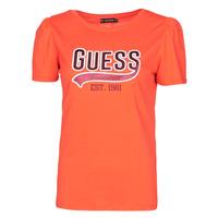 Oblačila Ženske Majice s kratkimi rokavi Guess SS CN MARISOL TEE Rdeča