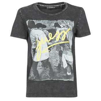 Oblačila Ženske Majice s kratkimi rokavi Guess SS CN PAULA TEE Črna