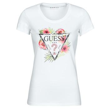 Oblačila Ženske Majice s kratkimi rokavi Guess SS CN REBECCA TEE Bela / Večbarvna