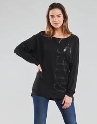 Oblačila Ženske Majice z dolgimi rokavi Guess LS KAROLINA TEE Črna