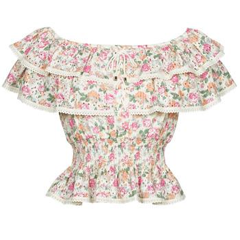 Oblačila Ženske Topi & Bluze Guess SS NEW ISOTTA TOP Rožnata
