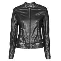 Oblačila Ženske Usnjene jakne & Sintetične jakne Guess NEW TAMMY JACKET Črna