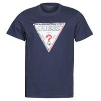 Oblačila Moški Majice s kratkimi rokavi Guess TRIESLEY CN SS TEE Modra