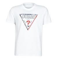 Oblačila Moški Majice s kratkimi rokavi Guess TRIESLEY CN SS TEE Bela