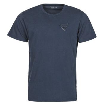 Oblačila Moški Majice s kratkimi rokavi Guess LOGO ORGANIC BASIC CN SS TEE Modra