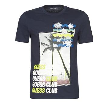 Oblačila Moški Majice s kratkimi rokavi Guess GUESS CLUB CN SS TEE Modra