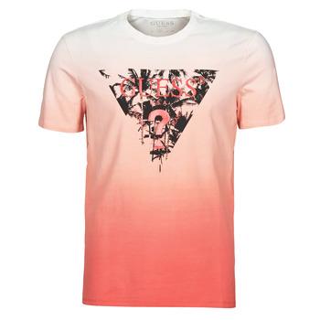 Oblačila Moški Majice s kratkimi rokavi Guess PALM BEACH CN SS TEE Rdeča