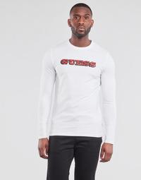 Oblačila Moški Majice z dolgimi rokavi Guess GUESS PROMO CN LS TEE Bela