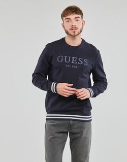 Oblačila Moški Puloverji Guess BEAU CN FLEECE Črna